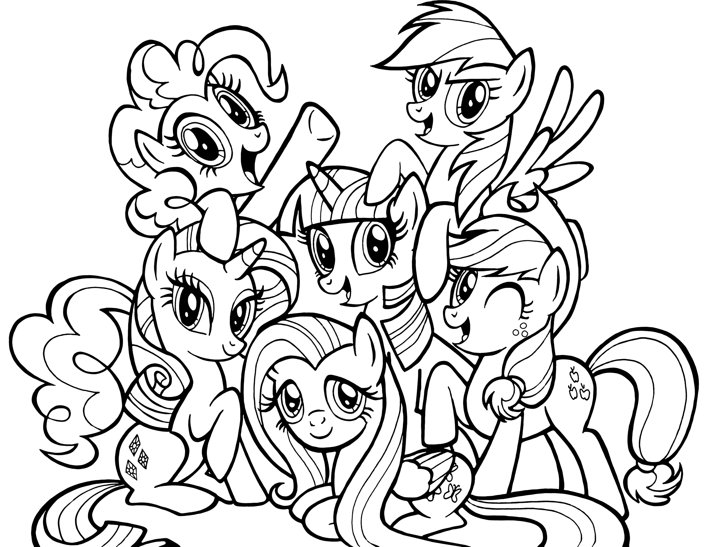 My Little Pony Coloring Pages Black And White : Раскраска Дружба это Чудо Раскраски пони чудо