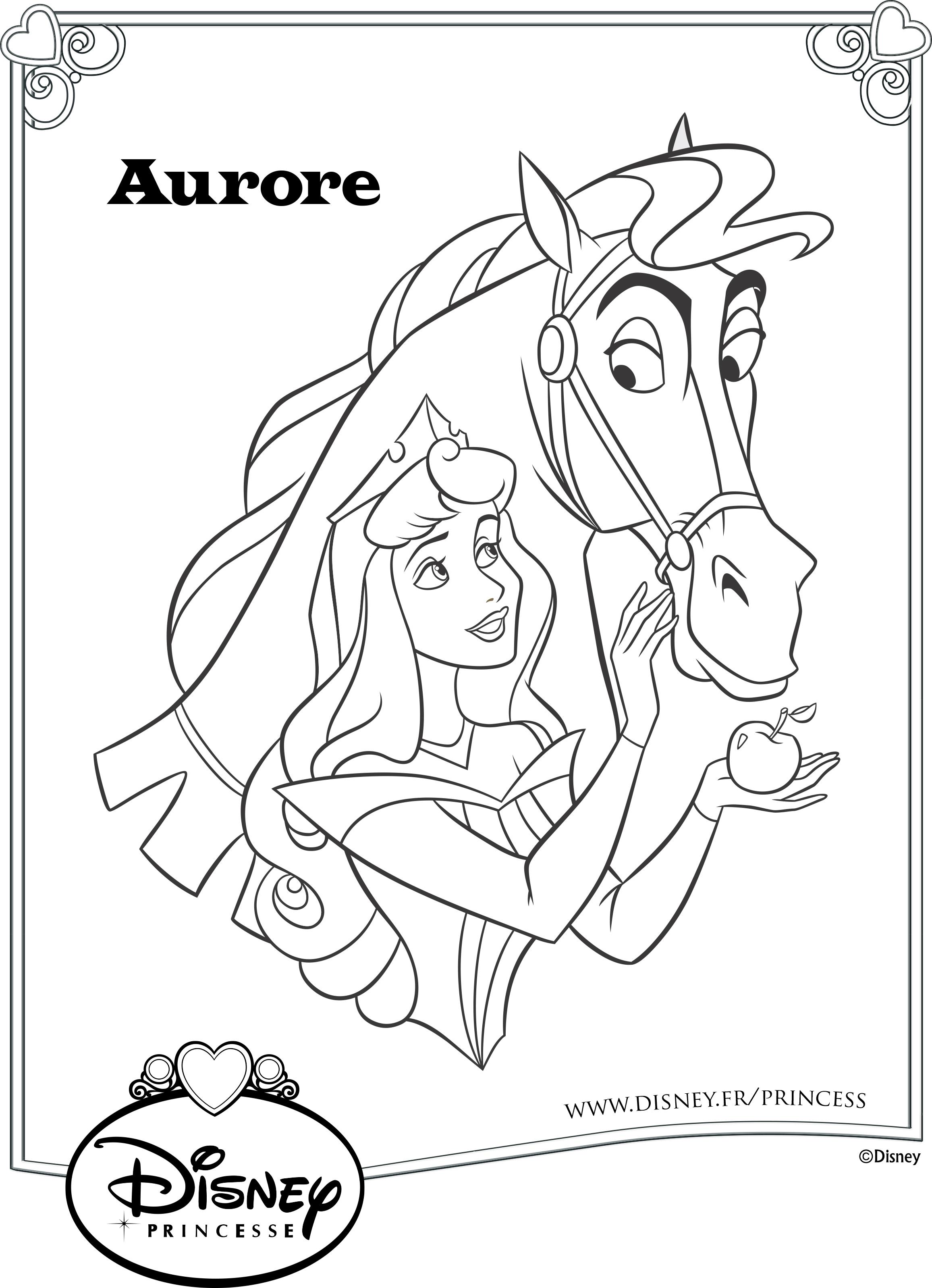 Принцессы и лошадки раскраски