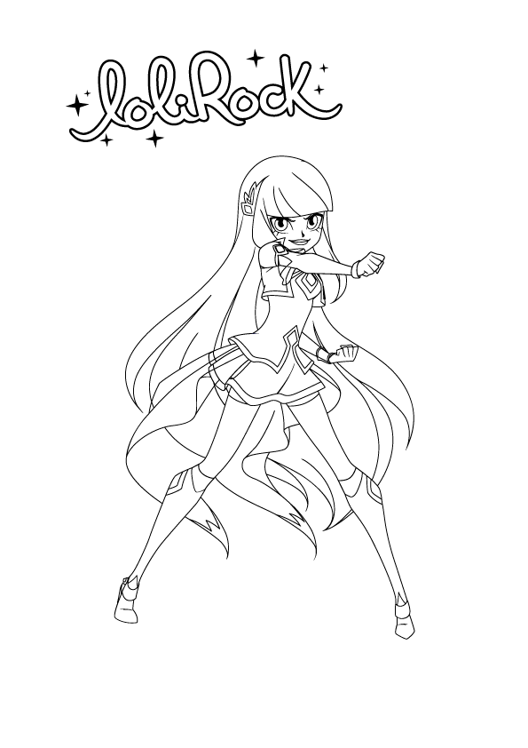 It's just a graphic of Dynamic Lolirock Coloring Pages